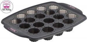 Tefal - J4171214 - Crispybake Moule 18 Mini Cannelés 21 x 29 cm Silicone Noir